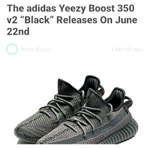 """350 v2 """"Black"""" yeezy."""